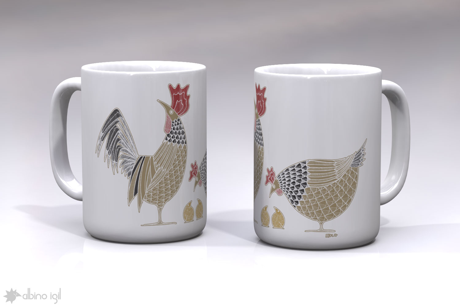 Chicken Mugs A