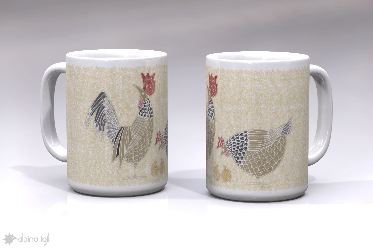 Chicken Mugs B