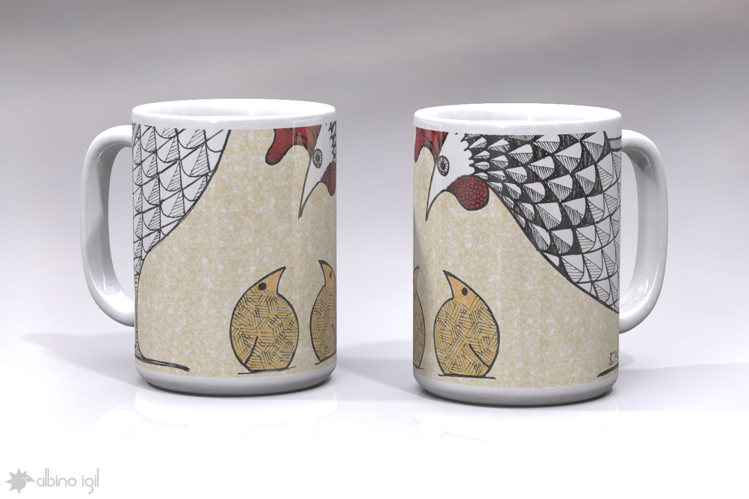 Chicken Mugs D