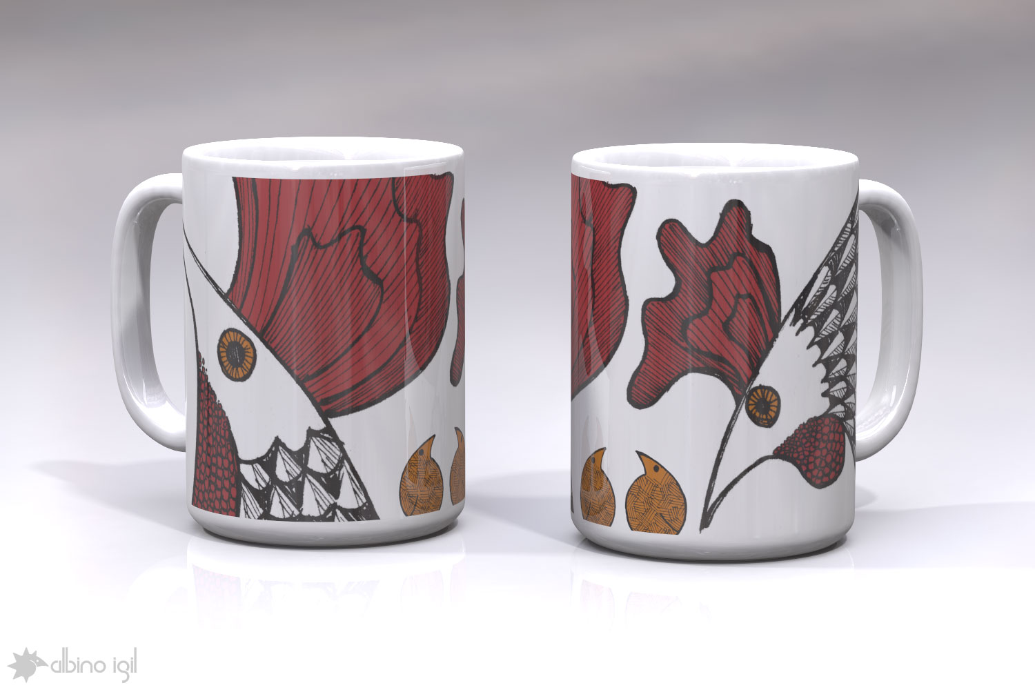 Chicken Mugs E