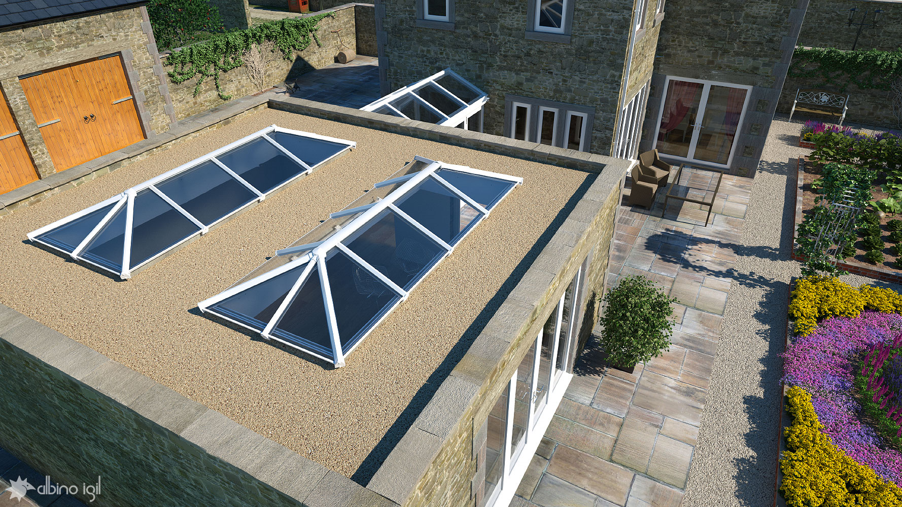 Glazed Extension Roof