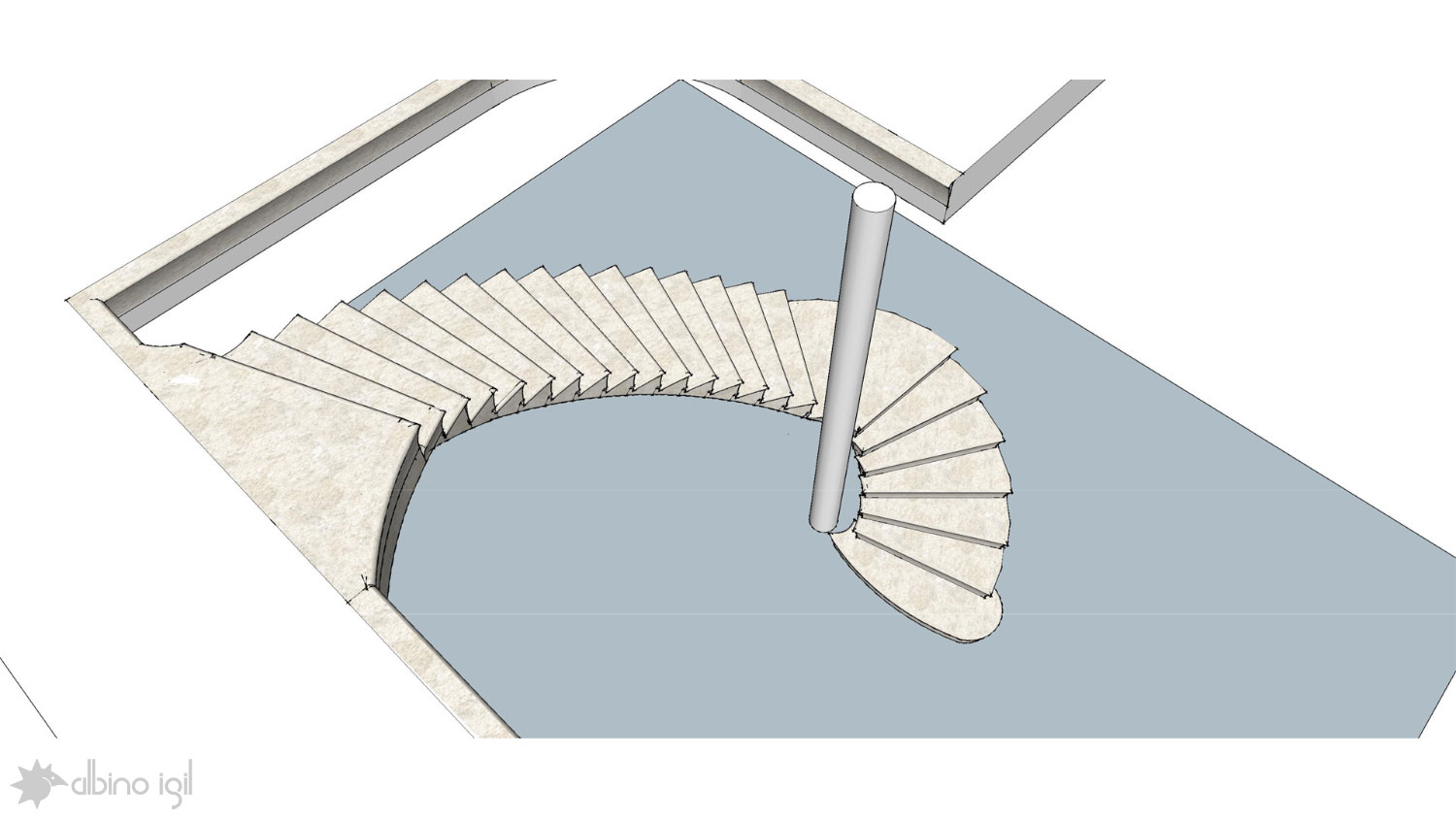 Stone Staircase Sketchup File