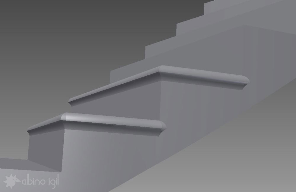 Stone Staircase Solid Model 1