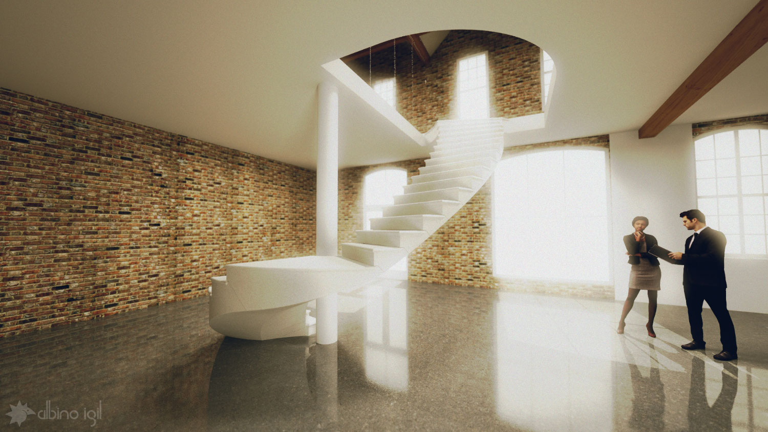 Stone Staircase Render 2
