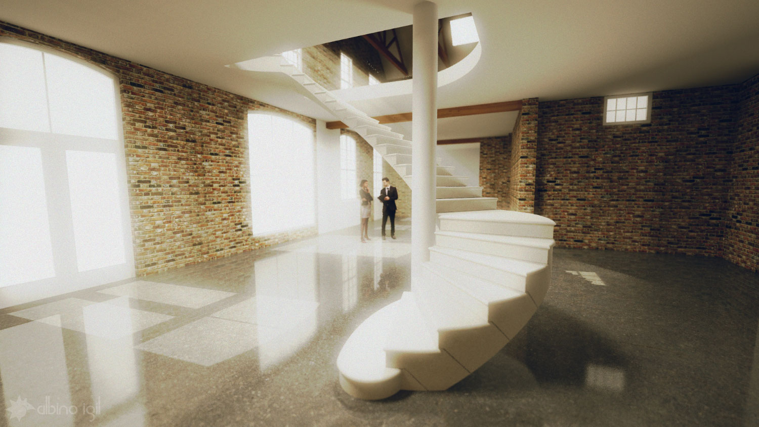 Stone Staircase Render 4