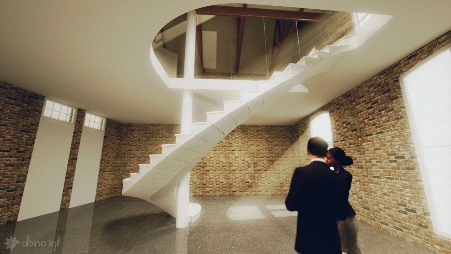 Stone Staircase Render 3