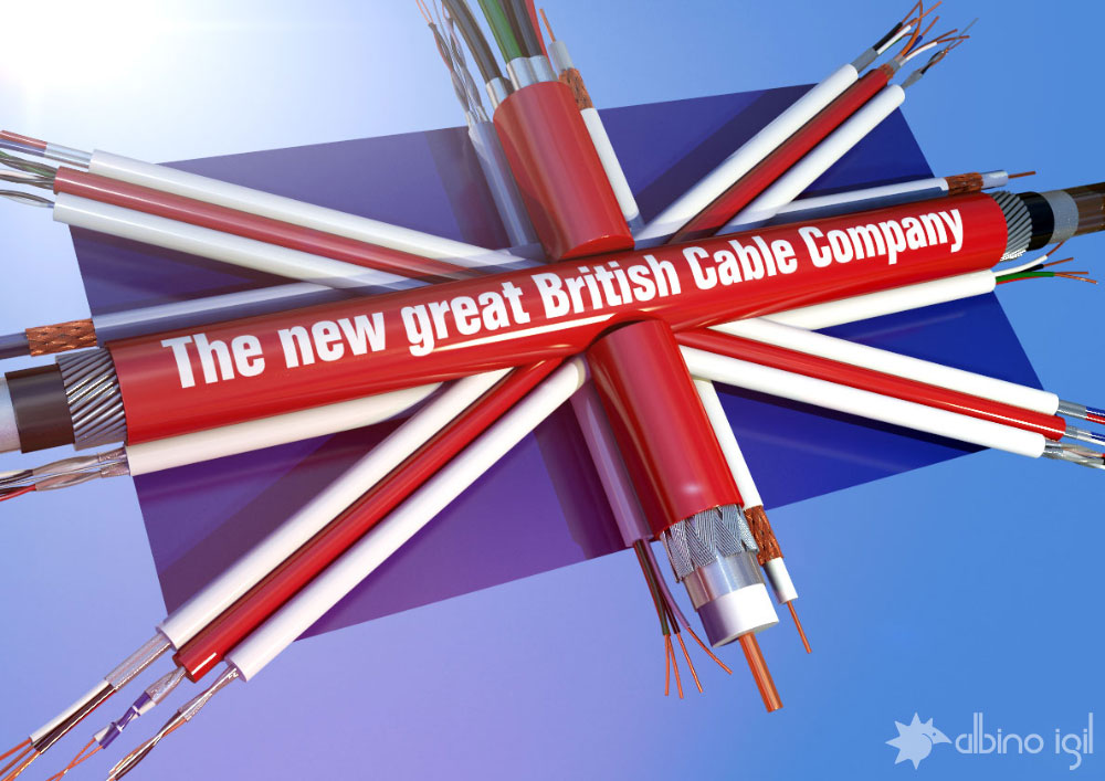 british cables company british flag concept